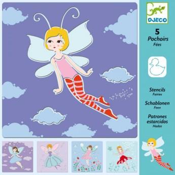 Djeco Szablony do rysowania dla dzieci od 3 lat Elfy