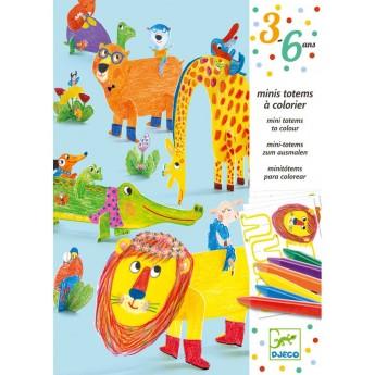 Djeco Zestaw kreatywny Zwierzęta do kolorowania i złożenia