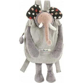 Moulin Roty pluszowy plecaczek Słoń dla małych dzieci
