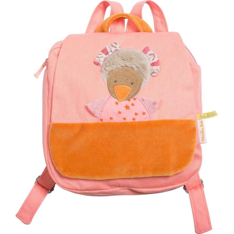 Moulin Roty pluszowy plecaczek Kurka dla 3 latki