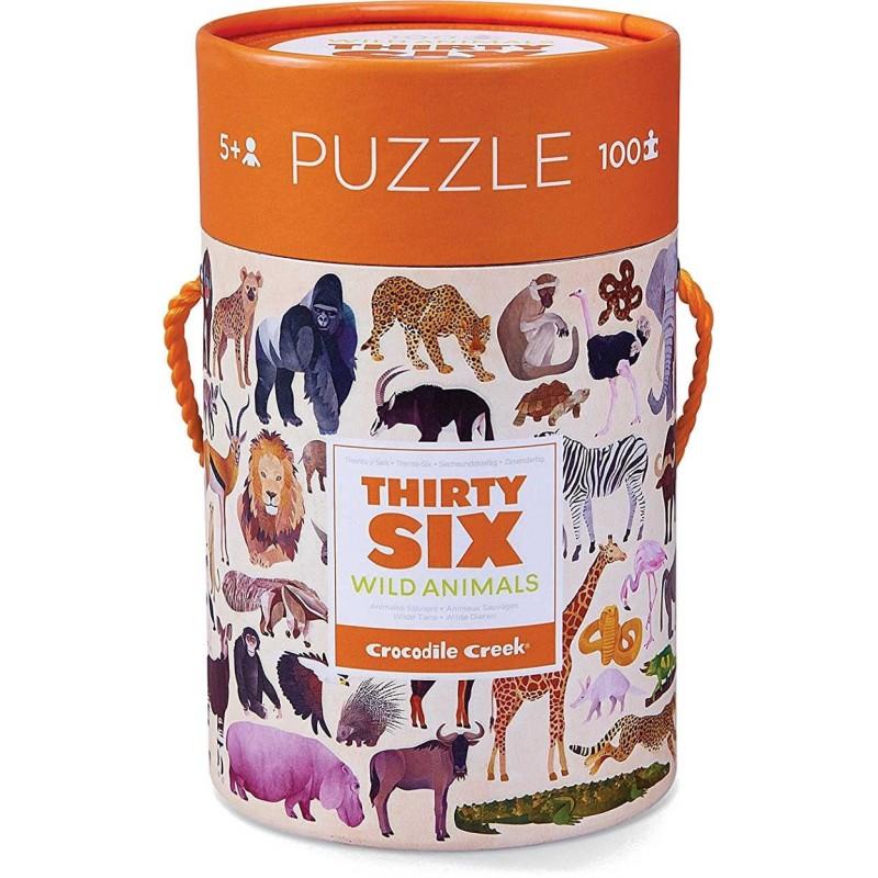 Puzzle kartonowe 100 el. Zwierzęta Świata, Crocodile Creek
