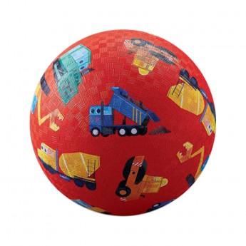 Piłka gumowa dla dzieci 18cm Mały Budowniczy, Crocodile Creek