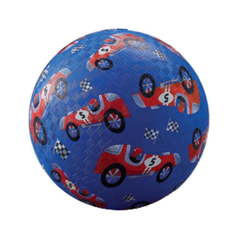 Piłka gumowa dla dzieci 18cm Wyścigówka, Crocodile Creek