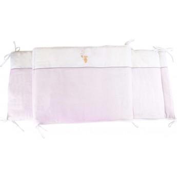 Ochraniacz na szczebelki do łóżeczka Królik różowy, Poyet