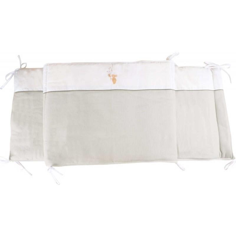 Ochraniacz na szczebelki do łóżeczka Królik ecru, Poyet