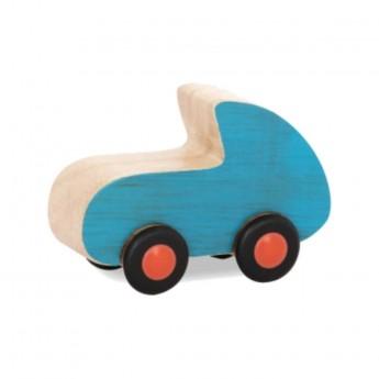 B.Toys Samochodzik drewniany niebieski samochód +12m