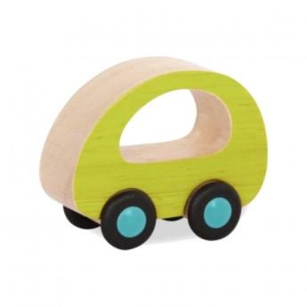 B.Toys Samochodzik drewniany zielone samochód +12m