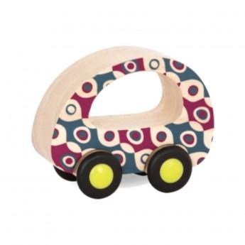 B.Toys Samochodzik drewniany kolorowy samochód +12m