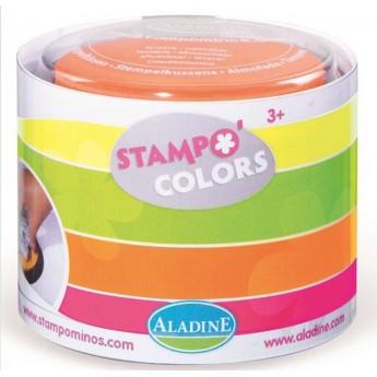 Zmywalne tuszy do stempelków 4 neonowe kolory od 3 lat, Aladine