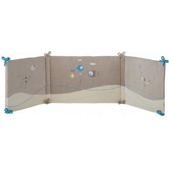 Ochraniacz na szczebelki do łóżeczka Rybki 70x140 i 60x120, Poyet