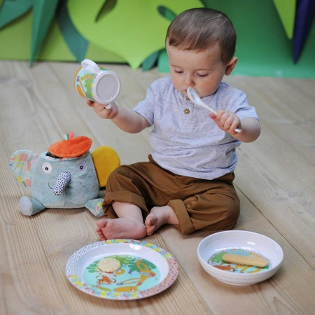 Łyżeczka Jungle Boogie dla niemowlaka i dziecka, Ebulobo