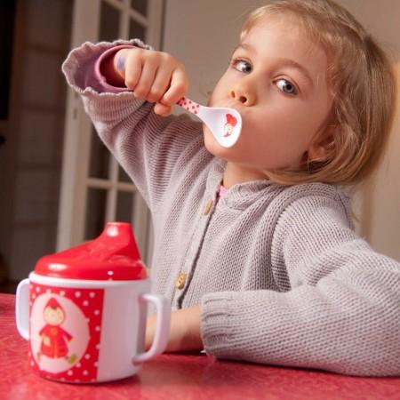 Łyżeczka Czerwony Kapturek dla niemowlaka i dziecka, Ebulobo