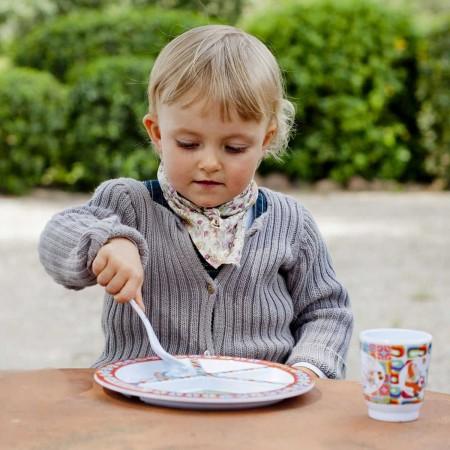 Łyżeczka Happy Farm Vintage dla niemowlaka i dziecka, Ebulobo
