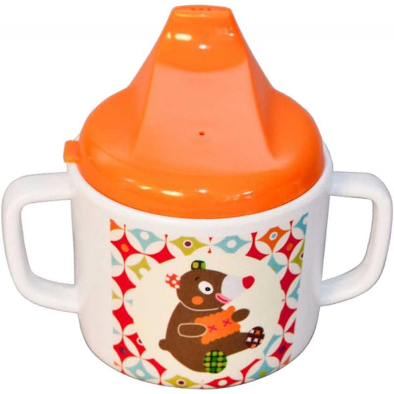 Kubek z dziubkiem dla niemowlaka Miś WoodOurs, Ebulobo