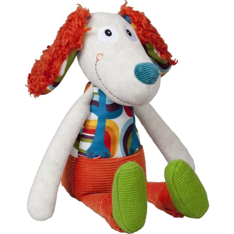 Ebulobo Przytulanka sensoryczna Pies Antek dla dzieci od 0mc