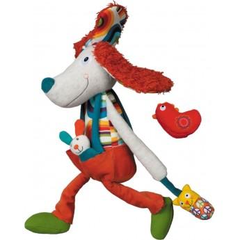 Edukacyjna zabawka dla niemowląt Pies Antek pluszowy, Ebulobo