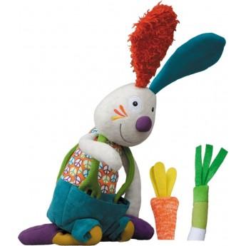Edukacyjna zabawka dla niemowląt Królik Jeff pluszowy, Ebulobo