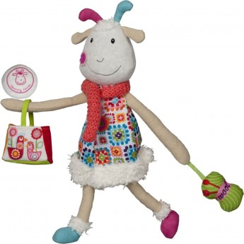 Edukacyjna zabawka dla niemowląt Koza Huguette, Ebulobo