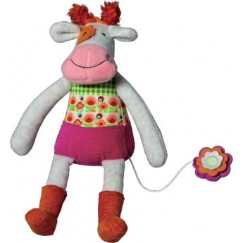 Pozytywka pluszowa naciągana Krowa Anemone dla niemowląt, Ebulobo