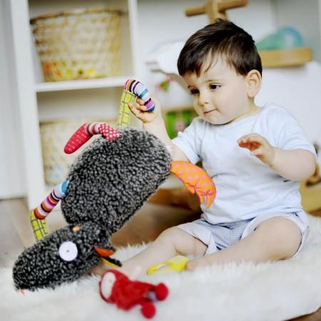 Szalony Wilk duża edukacyjna zabawka dla niemowląt, Ebulobo