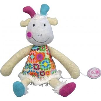 Pozytywka pluszowa naciągana Koza Hugette dla niemowląt, Ebulobo