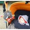 Pozytywka pluszowa nakręcana Szalony Wilk dla niemowląt, Ebulobo