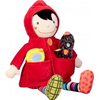 Czerwony Kapturek edukacyjna lalka dla niemowląt, Ebulobo