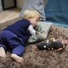 Przytulanka sensoryczna Szalony Wilk dla niemowląt, Ebulobo