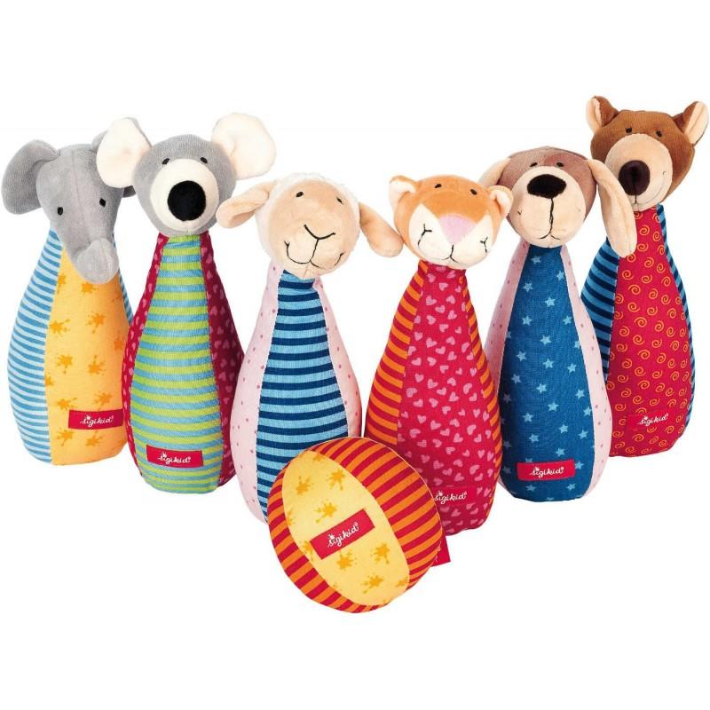 Sigikid Kręgle pluszowe dla niemowląt Zwierzęta PlayQ