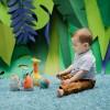 Kręgle pluszowe dla niemowląt Jungle Boogie od 6mc, Ebulobo