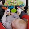 Zawieszka do wózka dla niemowląt samochodzik retro, Ebulobo