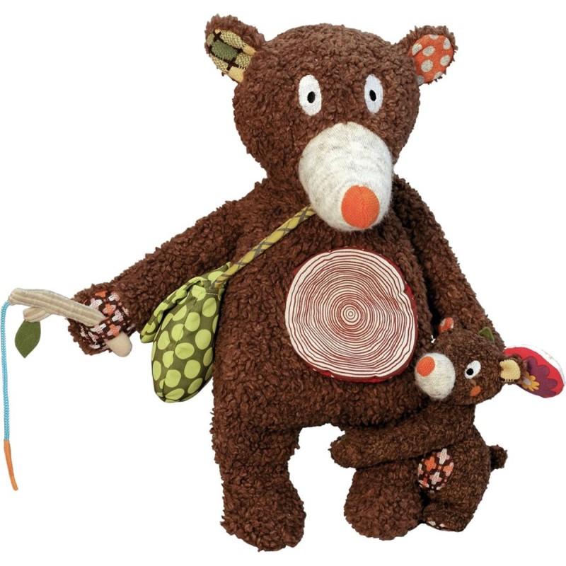 Tata Miś z synem zabawka edukacyjna dla niemowląt, Ebulobo