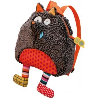 Plecaczek pluszowy Szalony Wilk brązowo-czerwony od 12mc, Ebulobo