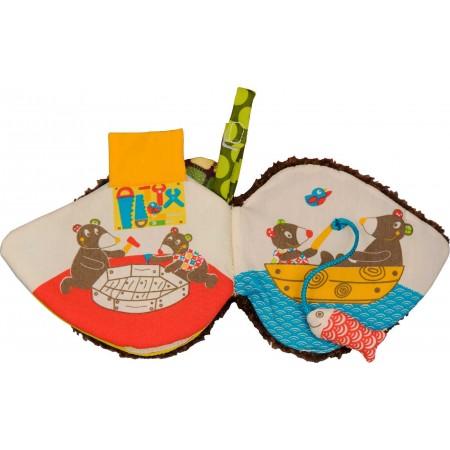 Ebulobo Edukacyjna książka dla niemowląt Miś WoodOurs majsterkuje z Tatą