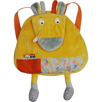 Plecaczek pluszowy Żyrafa Billie dla dzieci od 12 mc, Ebulobo