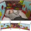 Ochraniacz na szczebelki do łóżeczka 70x140 Szalony Wilk, Ebulobo
