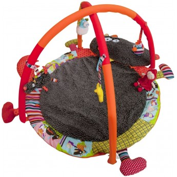 Mata edukacyjna z pałąkiem dla niemowląt Szalony Wilk, Ebulobo
