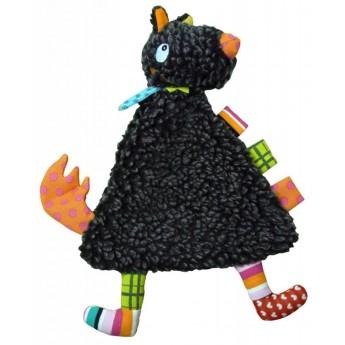 Przytulanka kocyk Szalony Wilk z metkami dla niemowląt, Ebulobo