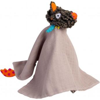 Przytulanka kocyk muślinowy Szalony Wilk od urodzenia Ebulobo | Dadum