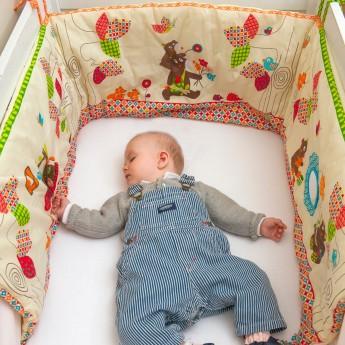Ochraniacz na szczebelki do łóżeczka 70x140 WoodOurs, Ebulobo