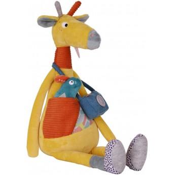 Duża sensoryczna przytulanka Żyrafa Billie dla niemowląt +3m, Ebulobo