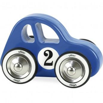 Vilac duże autko drewniane dla 2 latka Swing Car niebieskie