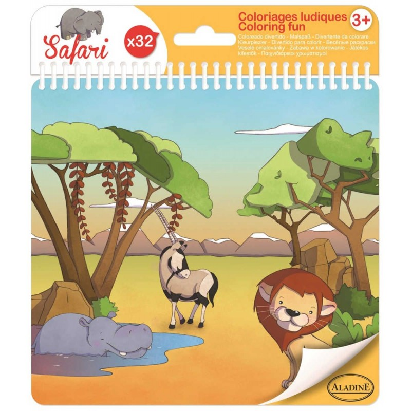 Książeczka do kolorowania Safari 32 strony, Aladine