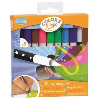 Flamastry zmieniające kolor 9 sztuk Magic Pen +3, Aladine