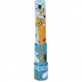 Luneta Pirata niebieska metalowa zabawka dla dzieci +3, Vilac