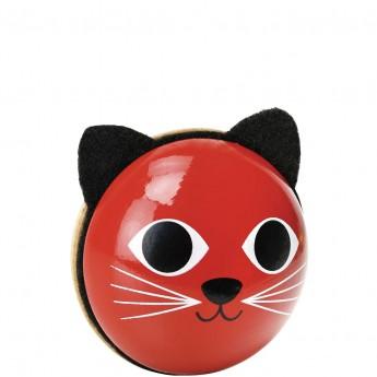 Grzechotka muzyczna drewniana Kot czerwony od 12 mc, Vilac