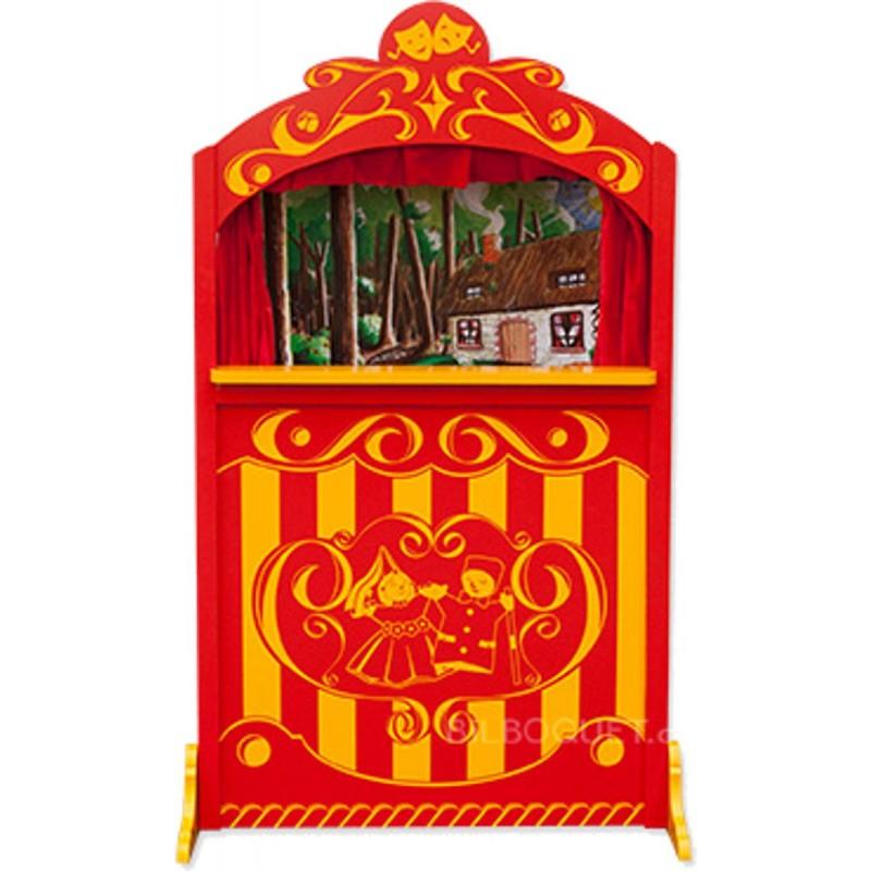 Duży teatrzyk drewniany stojący czerwony +3, Anima Scena