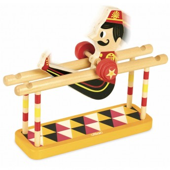 Vilac Akrobata na poręczach zabawka drewniana dla dzieci od 3 lat