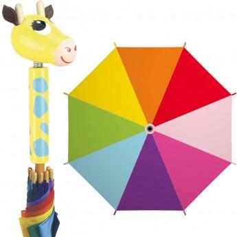 Vilac Parasolka drewniana dla dzieci Żyrafa wielokolorowa