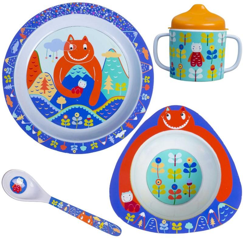 Zestaw obiadowy dla niemowląt Olbrzym My Giant 4 elementy, Ebulobo